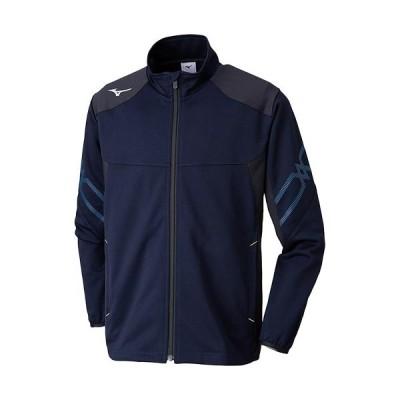 ミズノ(MIZUNO) ジュニア ウォームアップジャケット ディープネイビー×ブラック 32JC9415 14 長袖 トレーニグウェア スポーツウェア ジャージ