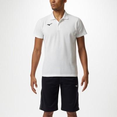 MIZUNO ミズノ ポロシャツ ユニセックス ホワイト×ブラック 32MA9195 79 陸上競技