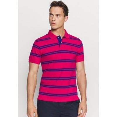 ガント メンズ ポロシャツ トップス CONTRAST STRIPE COLLAR - Polo shirt - love potion love potion