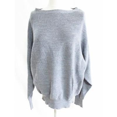 【中古】N.Natural Beauty Basic N.ナチュラルビューティーベーシック セーター 長袖 無地 カットソー ウール グレー M  レディース