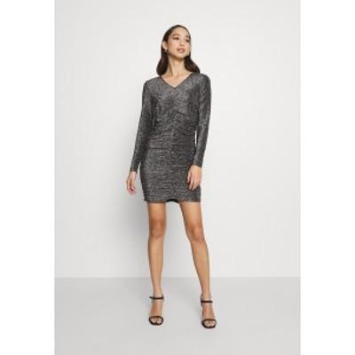 ヴェロモーダ レディース ワンピース トップス VMJOSEPHINE SHORT DRESS - Jersey dress - black/silver black/silver