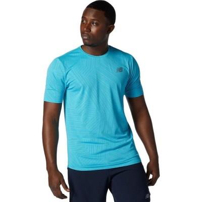 ニューバランス New Balance メンズ Tシャツ トップス Q Speed Short - Sleeve Shirt Virtual Sky