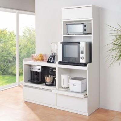 家具 収納 キッチン収納 食器棚 レンジ台 レンジラック キッチンラック 大型レンジが置ける家電収納庫 3段レンジラック・幅80cm 588223