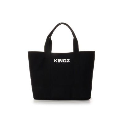 【キングズバイサマンサタバサ】 キャンバストート 横 メンズ ブラック FREE KINGZ by Samantha Thavasa