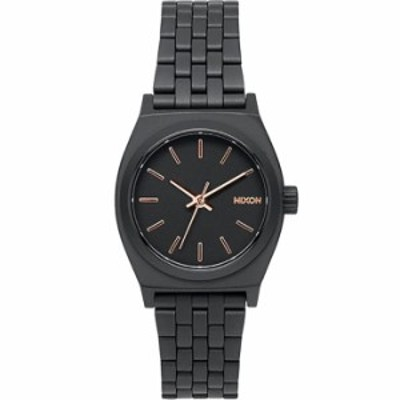 NIXON ニクソン 【送料無料】NA399957 Small Time Teller : All Black/Rose Gold