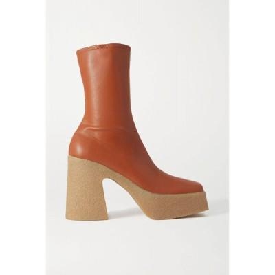 ステラ マッカートニー Stella McCartney レディース ブーツ ショートブーツ シューズ・靴 vegetarian leather platform ankle boots Praline