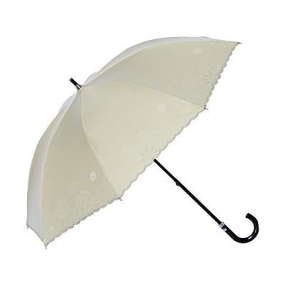 [ムーンバット] 長傘 MOONBAT(ムーンバット) LANVIN en blue(ランバン オン ブルー) 花柄 スカラ刺繍 日傘 晴雨兼用傘 ?