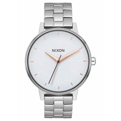 Nixon Women s Kensington腕時計シルバーホワイトローズゴールド37mm