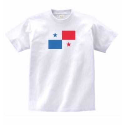 国 国旗 Tシャツ パナマ 白