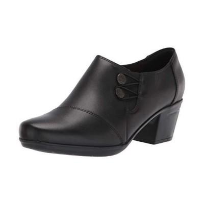Clarks Women's Emslie Warren Slipon Loafer,Black Leather,8 W US