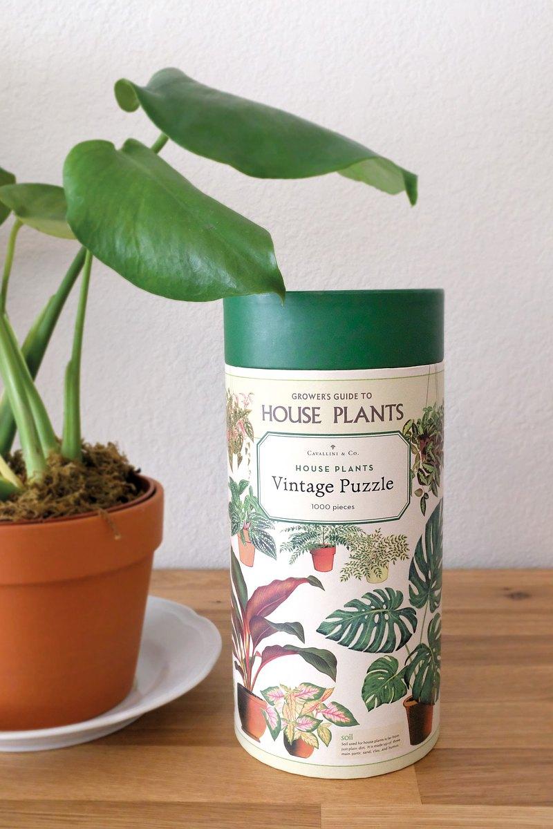 Cavallini 1000片拼圖 室內植物 House Plants 千片拼圖 | 預購