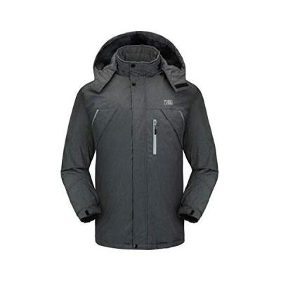 ZSHOW メンズ マウンテンスキージャケット 防水フリース裏地 アウトドアスノーコート US サイズ: Large カ