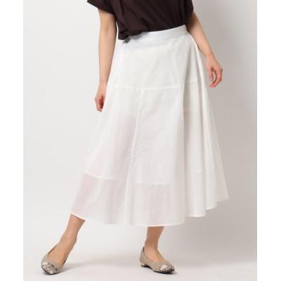 (THE SHOP TK/ザ ショップ ティーケー)ロハシーコットンAラインスカート/ONSTYLE/テレワーク/WEB会議/レディース オフホワイト(003)