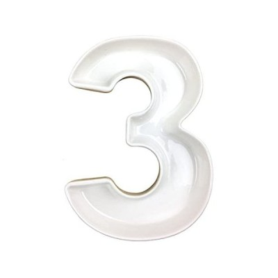 特別価格Just Artifacts 5.5インチ ホワイト装飾セラミック数字皿(番号:3、長さ:5.5インチ)好評販売中