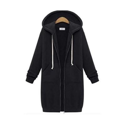 [サ二ー] レディース フード付き コート 秋冬 ロング丈 厚手 ファッション 暖かい おしゃれ 羽織り 大きいサ