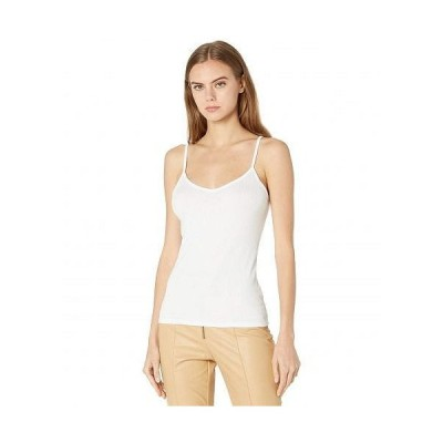 BCBGeneration ビーシービーゲネレーション レディース 女性用 ファッション トップス シャツ Ribbed Tank Top ESX1T05 - Optic White