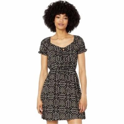 アメリカンローズ American Rose レディース ワンピース ワンピース・ドレス Melody Tie Front Dress with Ruffle Sleeves Black