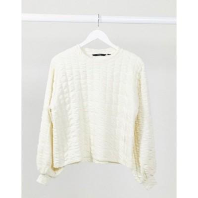 ヴェロモーダ レディース Tシャツ トップス Vero Moda textured sweater in cream Cream
