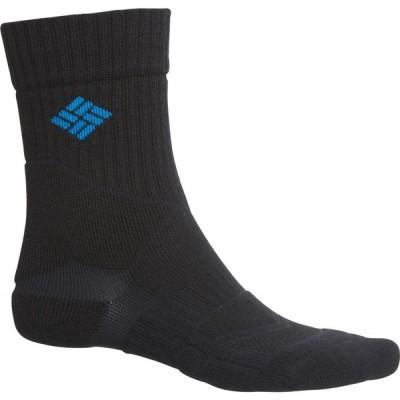 コロンビア Columbia Sportswear メンズ ハイキング・登山 Midweight Hiking Socks - Merino Wool Blend, Crew Black