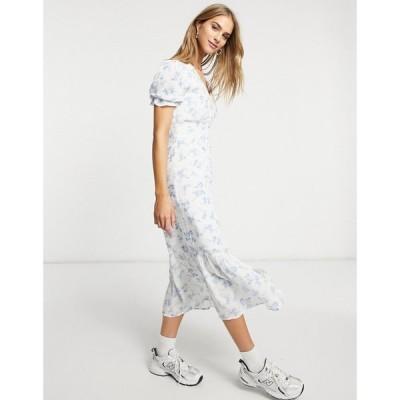 ウェアハウス Warehouse レディース ワンピース ミドル丈 ワンピース・ドレス Bonnie Ditsy Midi Dress In Multi ブルーパターン