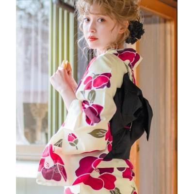 (Dita/ディータ)1人で簡単着付けDita浴衣セット レディース Dita浴衣セット(ゆかた・しわ兵児帯・下駄・着付け本・腰ひも)はんなり高級浴衣5点セット/レディース その他系18