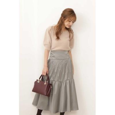 (PROPORTION BODY DRESSING/プロポーションボディドレッシング)シャンブレーティアードスカート/レディース カーキ