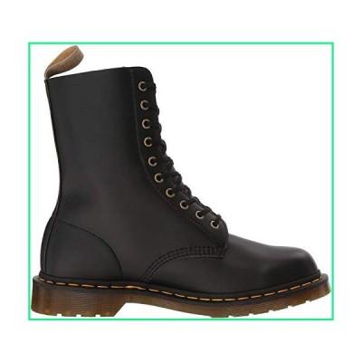 Dr. Martens Vegan 1490 Combat Boot, Black Felix Rub Off, Womens 11/Mens 10