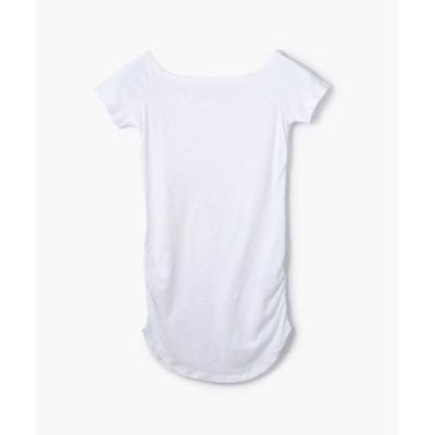 TOMORROWLAND/トゥモローランド コットンストレッチ オフショルダーTシャツ WJE3866 11 ホワイト 0(S)