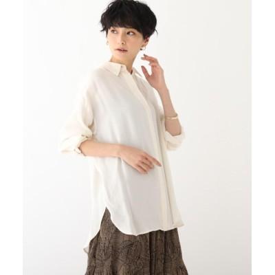 【オペークドットクリップ】 キュプラレーヨンBIGシャツ レディース オフホワイト 42(LL) OPAQUE.CLIP