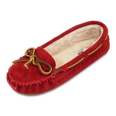 MINNETONKA ミネトンカ モカシン 4016 CALLY RED レッド レディース 女性 シューズ 靴 スリッポン スエード 【送料無料 並行輸入品】