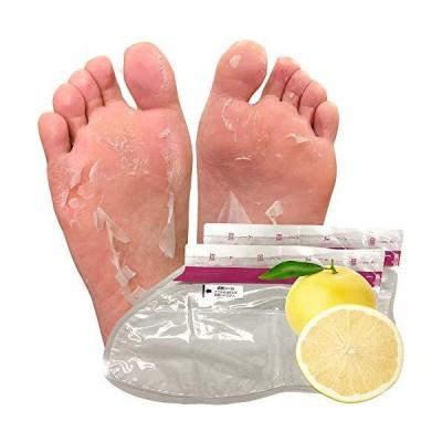 フットピーリングパック ペロリン 足パック 足のかかと 角質とり 角質はがし (グレープフルーツ 単品)