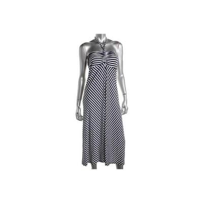 インク ドレス ワンピース INC 0806 レディース ネイビー Chevron Convertible ストラップless カジュアル ドレス M BHFO