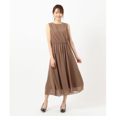 any SiS/エニィスィス 【洗える】アシメタックミディ ドレス モカ 3