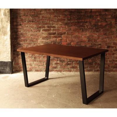 アメリカンヴィンテージデザイン リビングダイニングセット【66】ダブルシックス ウォールナット材テーブル(W120) スチール脚