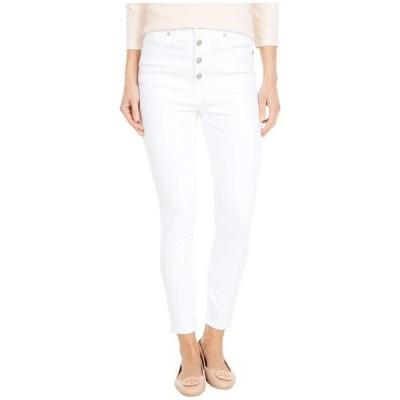 """メイドウェル レディース デニムパンツ ボトムス 10"""" High-Rise Skinny Crop Jeans in Pure White: Button-Front Edition"""