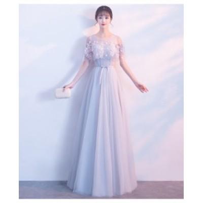 大人気 イブニングドレス パーティードレス ワンピース レディースドレス ドレス 大きいサイズ レース 二次会 m65