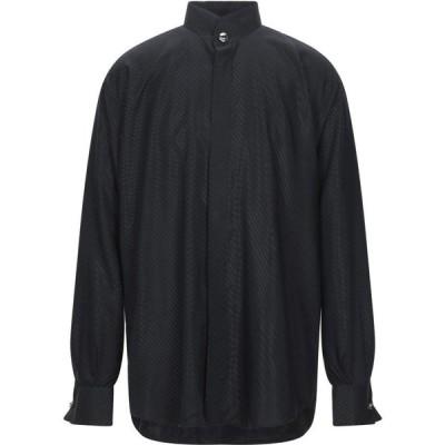 パルジレリ PAL ZILERI メンズ シャツ トップス solid color shirt Black