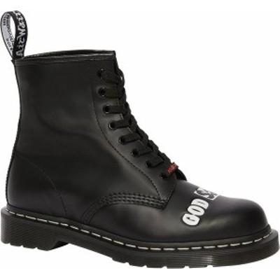 ドクターマーチン レディース ブーツ・レインブーツ シューズ 1460 Sex Pistols Mid Calf Boot Black Rolled Smooth Leather