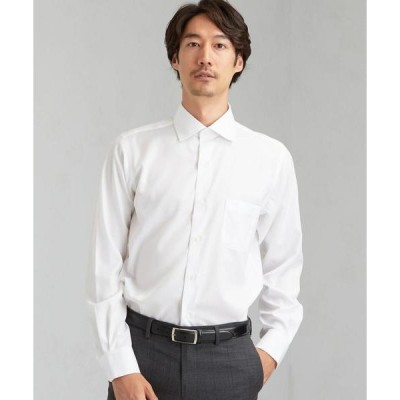 シャツ ブラウス スリム シャドウ ストライプ SWD クレリック ドレスシャツ < 機能性 / イージーアイロン >