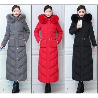 超ロング ダウンコート 大きいサイズ 防寒 ダウン ジャケット 軽量 防寒 ロング アウター 厚手 着痩せ 暖かい 撥水 超 ダウン