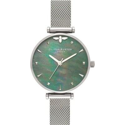 腕時計 レディース オリビアバートン(OLIVIA BURTON) 無地 直径30mm クォーツ ステンレスベルト シルバー/グリーン色 1OQOB16AM151