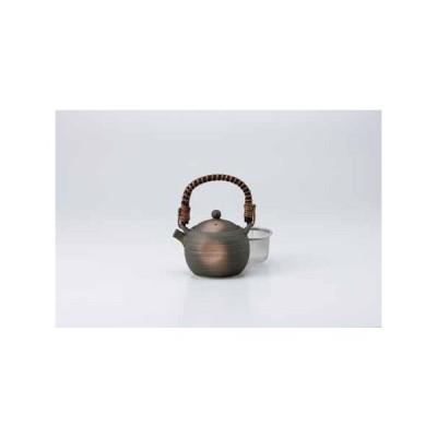 和食器 黒伊賀吹玉土瓶 茶こし付き  お茶 緑茶 番茶 紅茶 コーヒー おうち うつわ 陶器 食器 カフェ おしゃれ 軽井沢 春日井