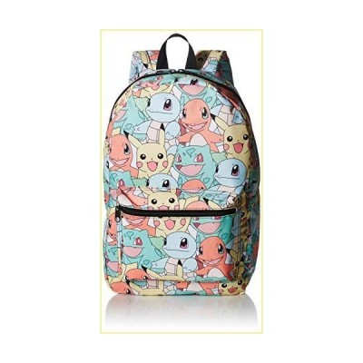 [バイオワールド]bioWorld Pok〓mon Pastel Kanto Starters All Over Print Backpack 190371345272 [並行輸入品]