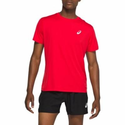 アシックス ASICS メンズ ランニング・ウォーキング トップス Silver Short Sleeve T-Shirt Classic Red