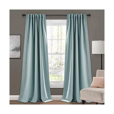 "Lush Decor 1 Insulated Back Tab Blackout Window Curtain Panel Pair, 95"" L x 52"" W, Blue【並行輸入品】"