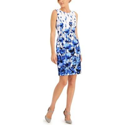 カスパール Kasper レディース ワンピース ワンピース・ドレス Petite Floral Border-Print Dress Mariner Blue Mutli