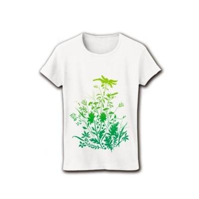 野草と野花2 リブクルーネックTシャツ(ホワイト)