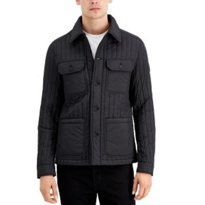 マイケルコース メンズ ジャケット&ブルゾン アウター Men's Vertical Quilted Jacket Black