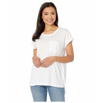 リバプール シャツ トップス レディース Scoop Neck Short Sleeve Dolman White Cotton
