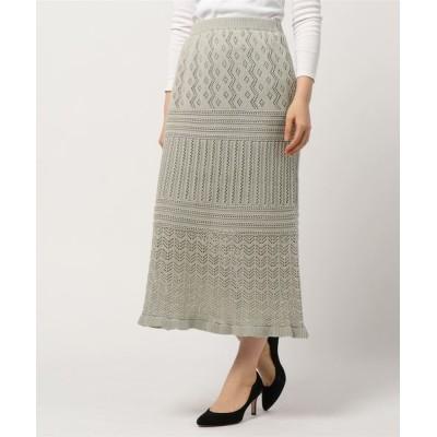 スカート 透かし編み スカート